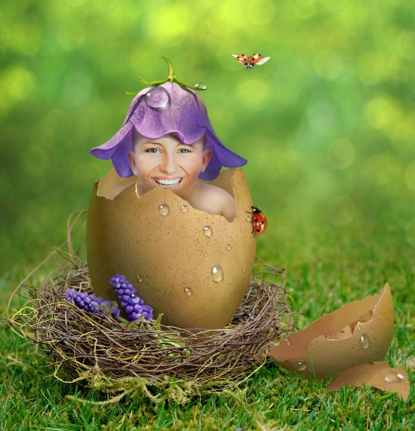 put your face in just hatched EGG