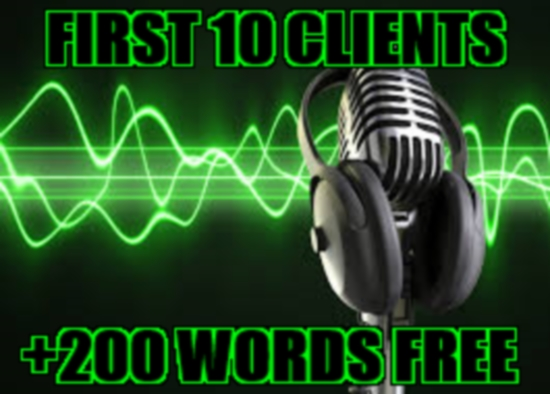 do a 200 word voice over (young American adult male), today