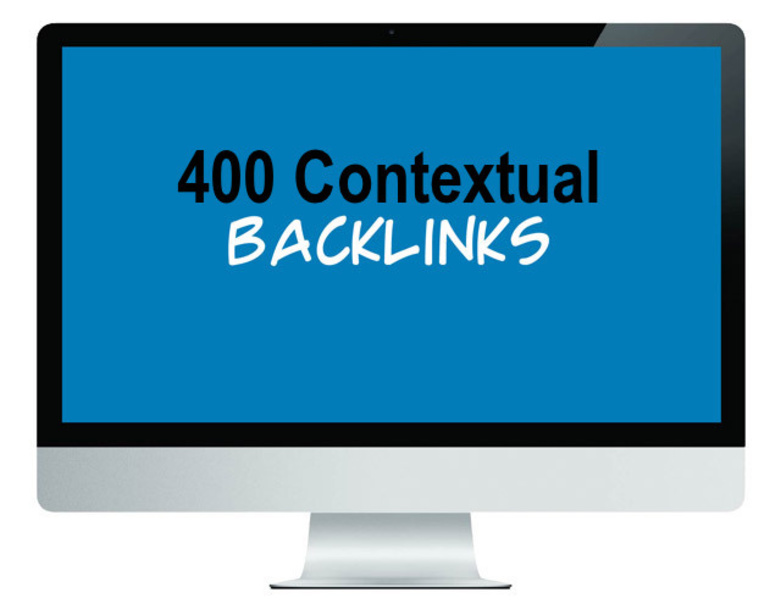 create 400 niche related contextual backlinks 24 hours