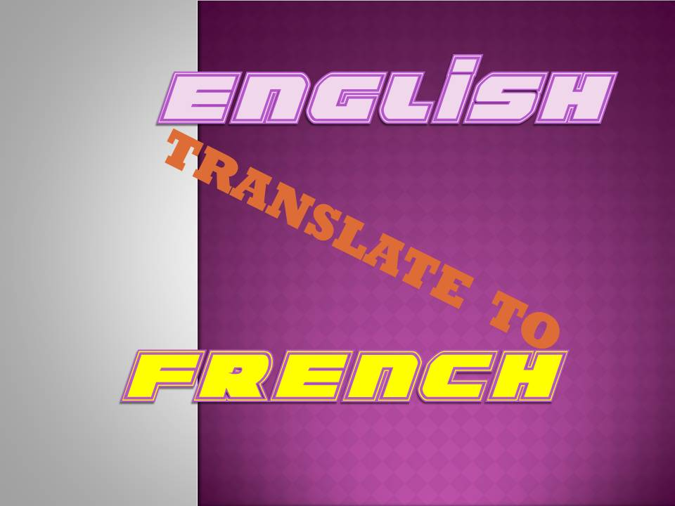 translate up 300 words from English to French