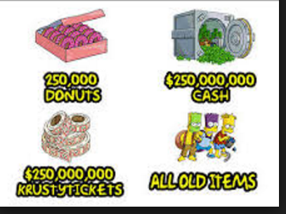 deliver tapped out donuts/cash/tickets/old items