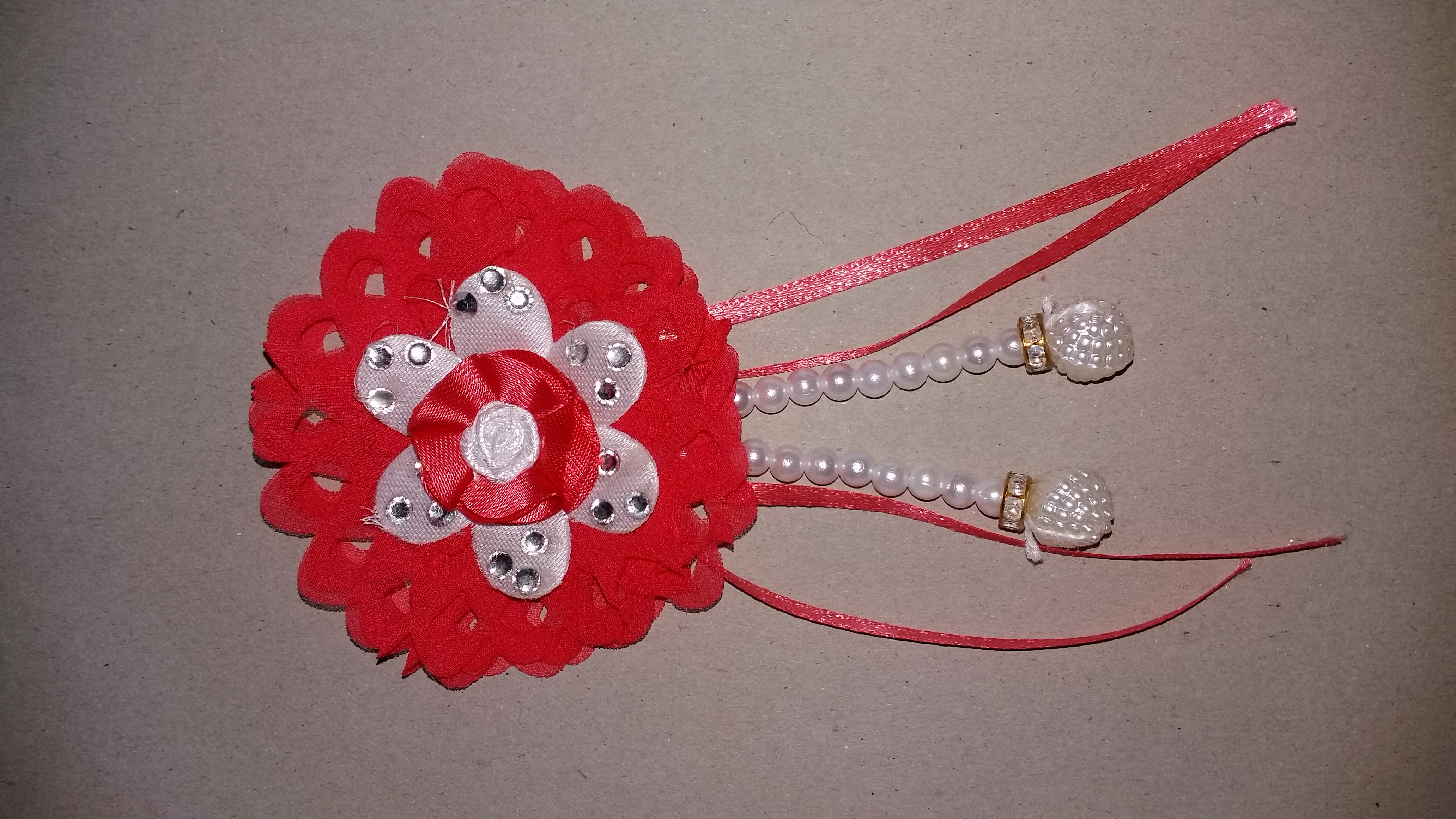 Send 4 handmade cloth flowers