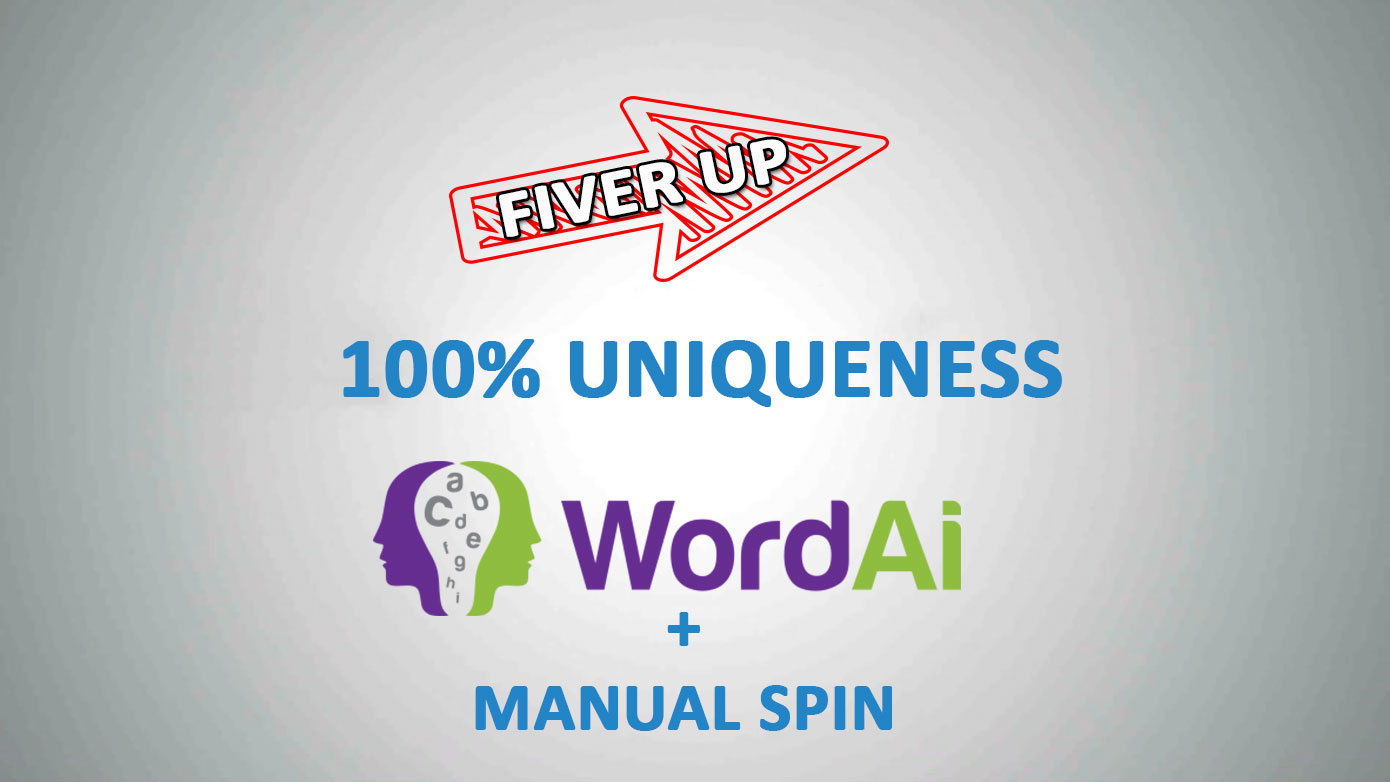 spin 3000 Words Using WordAI And Manual Spin - 100 percent UNIQUE