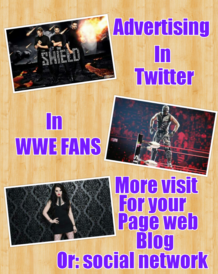 Advertising in twitter of wwe fans in english and spanish for one week