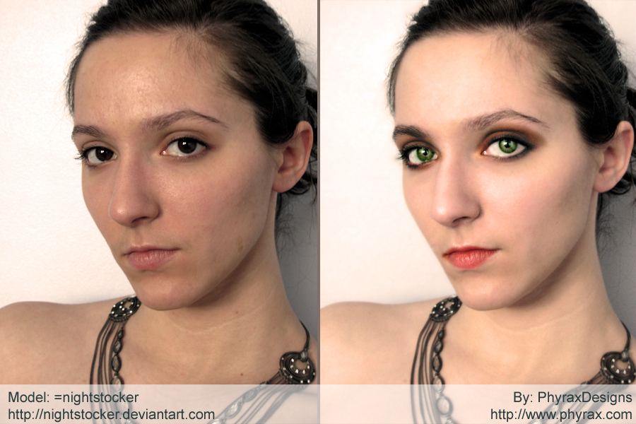 add the make up for your picture and creat the beauty