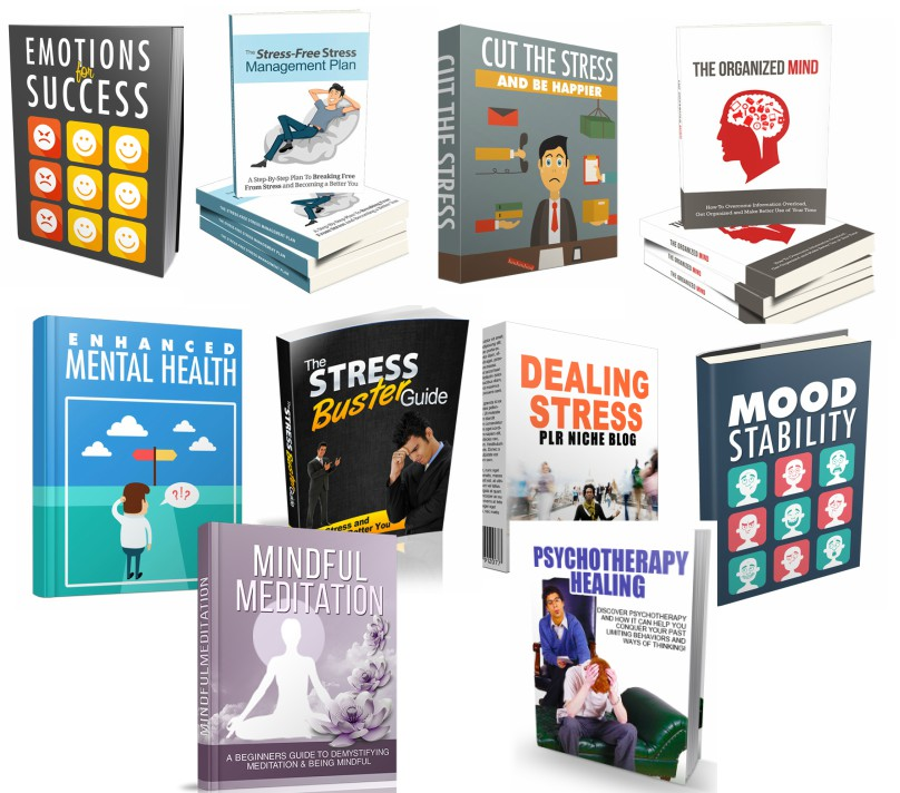 give you 10 great ebooks about stress and Mental Health with resale rights