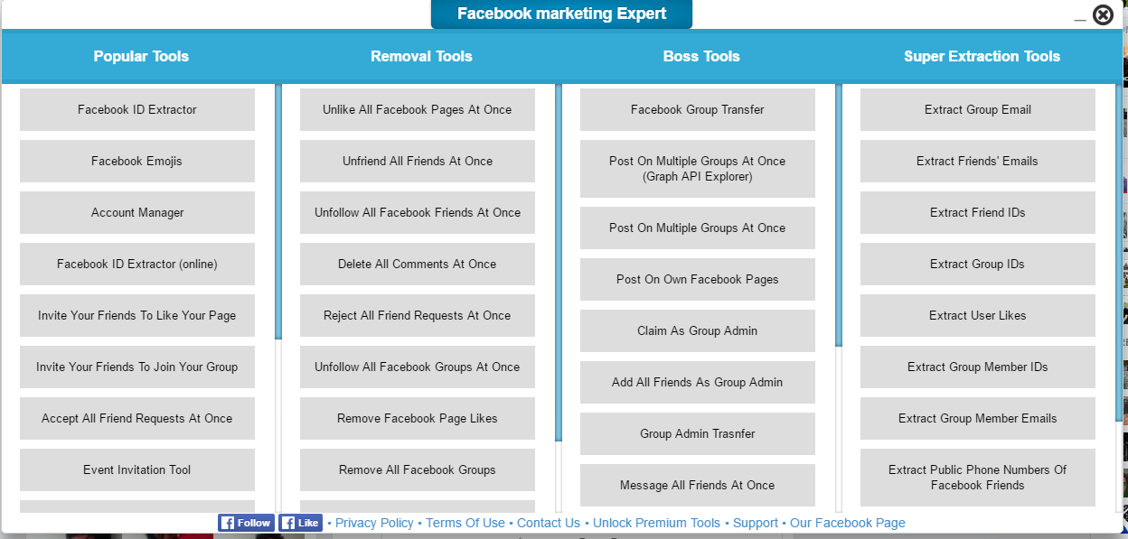 sell facebook marketing softwere