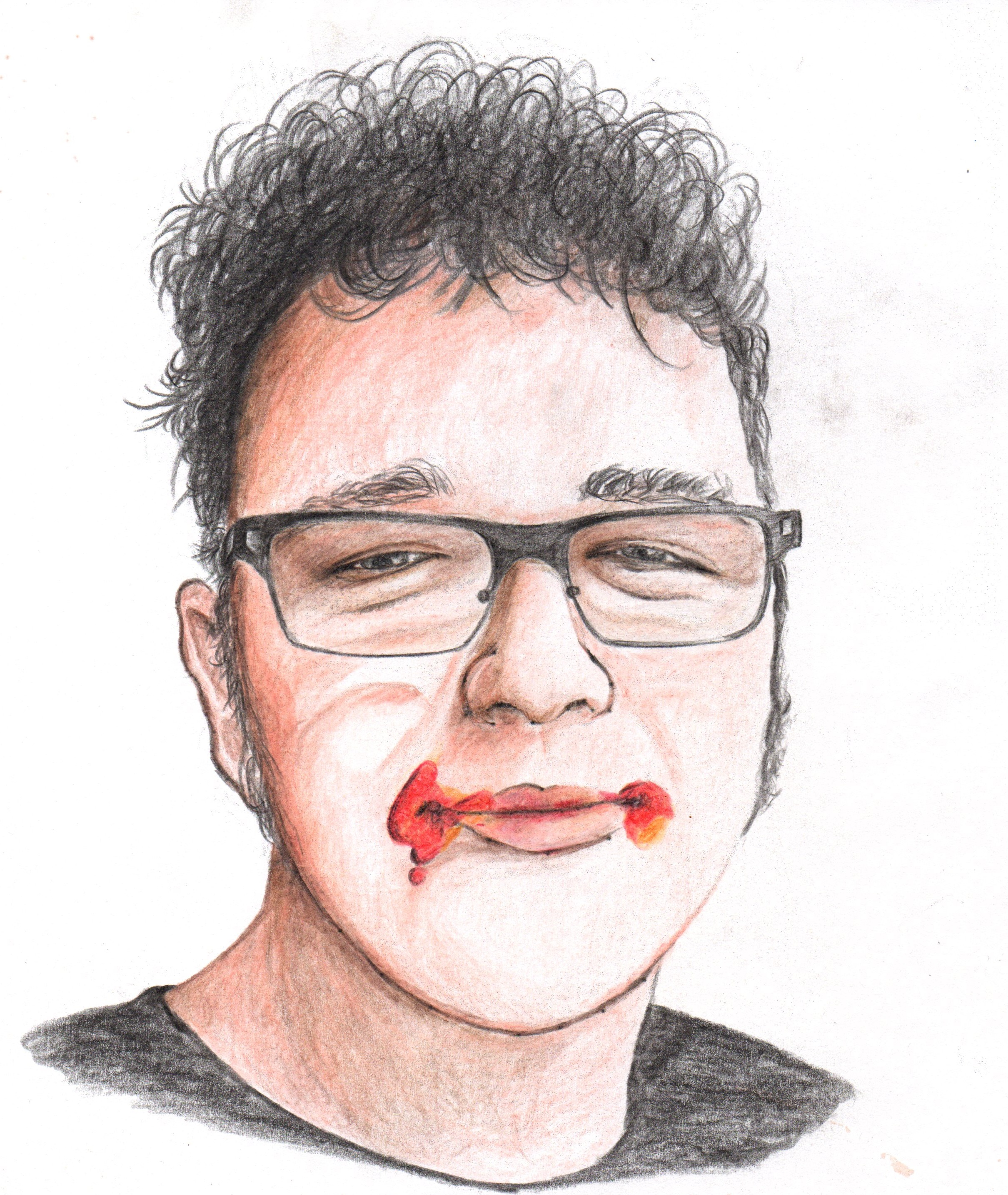 create your portrait with coloured pencils, MANUALLY