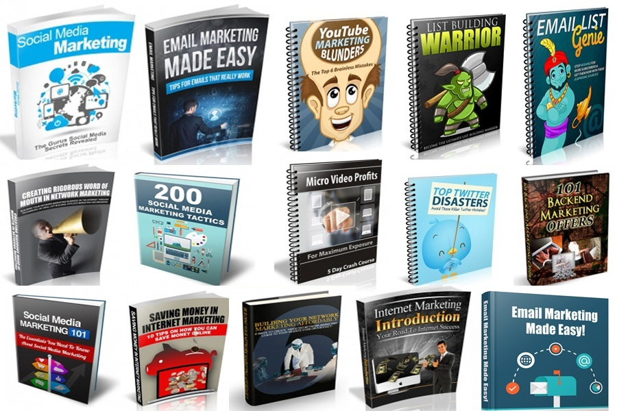 give you 100 Internet marketing eBooks with resell rights That Will Make You a Better Marketer in 2016