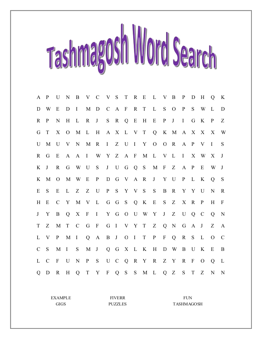 make a personalized cross word or wordsearch for you