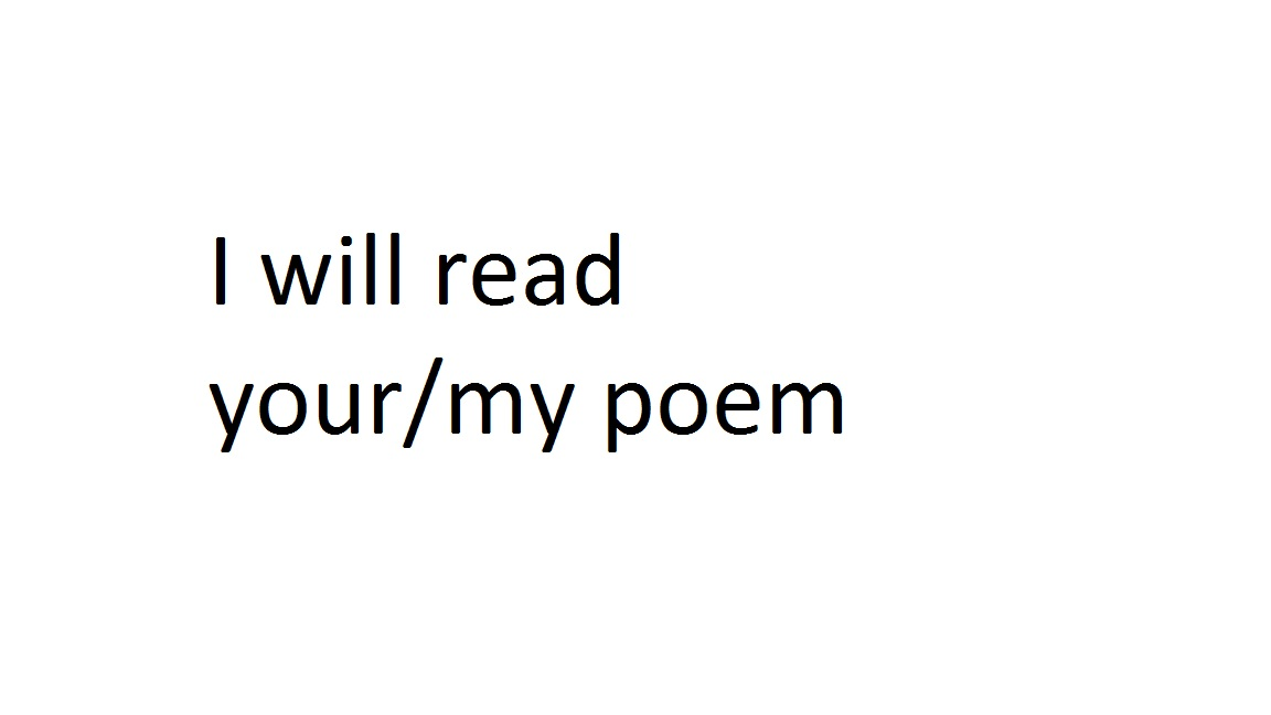 read you a special poem i wrote