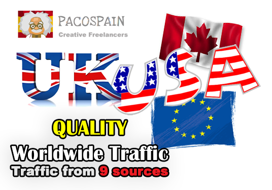 send you daily 2,000 High Quality Worldwide traffic for 30 days from 9 sources
