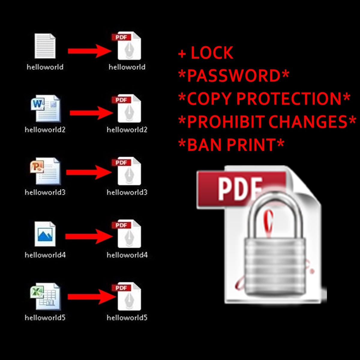 covert your documents to PDF!