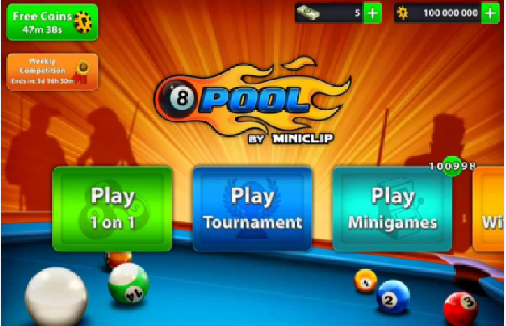 give you 1M 8 Ball Pool Coins