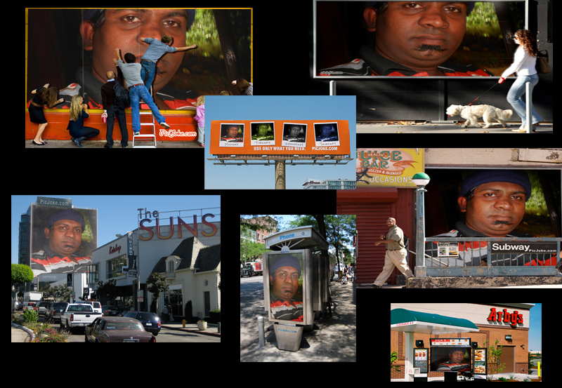 put photo or logo on 30 BILLBOARDS city posters and photos effects