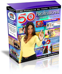 give you about 50 Professional Biz Header Templates PLR