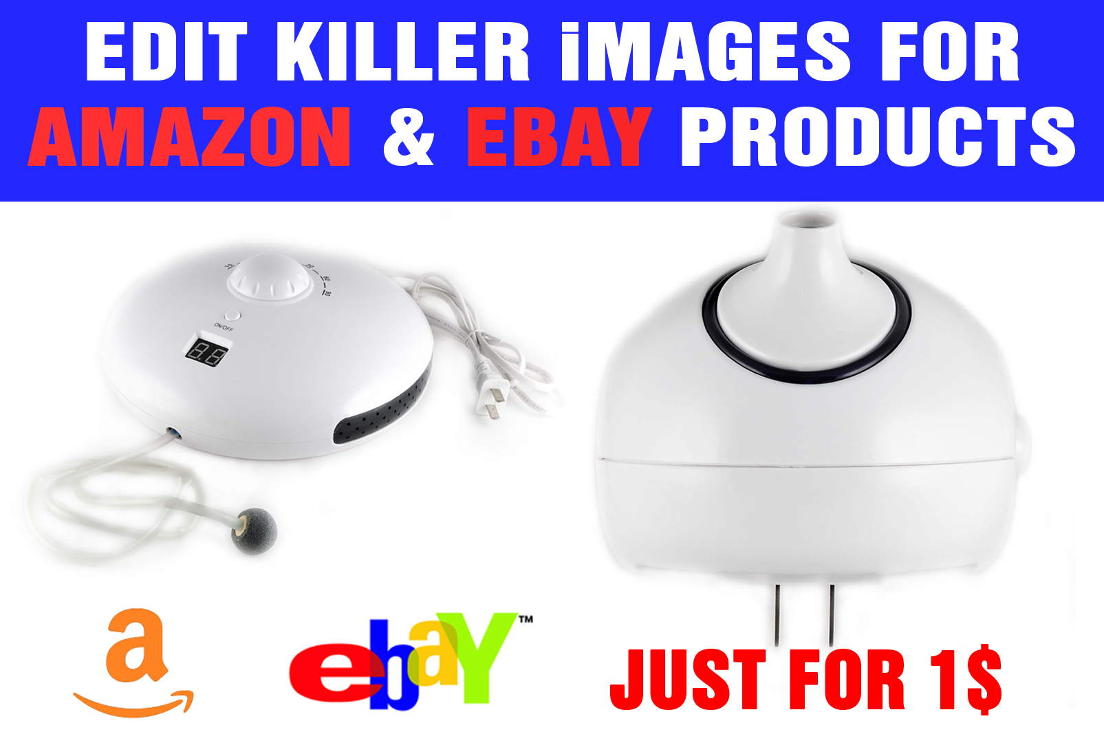 Edit 4 images for amazon and ebay products