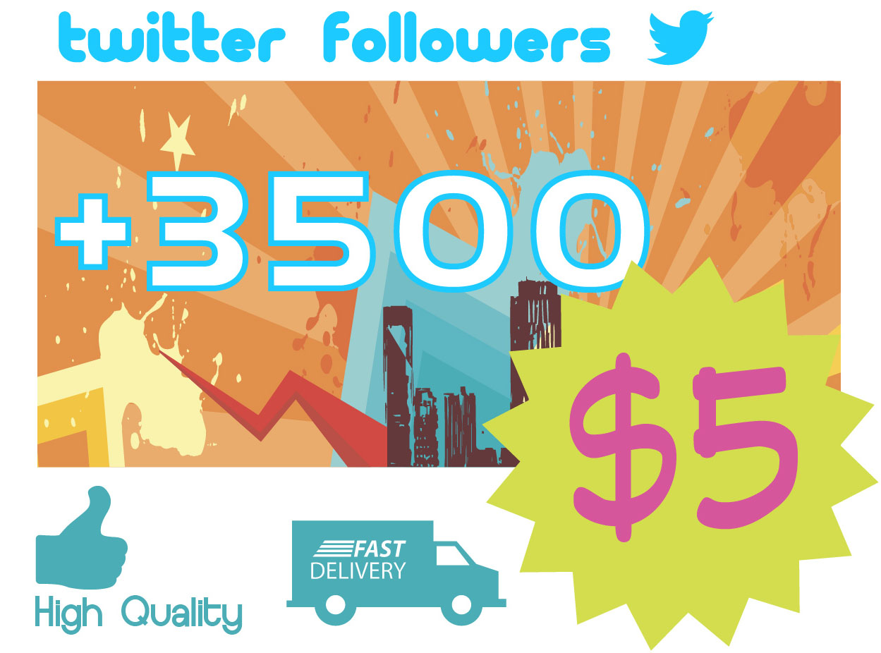 give you 3500 real twitter followers WorldMix