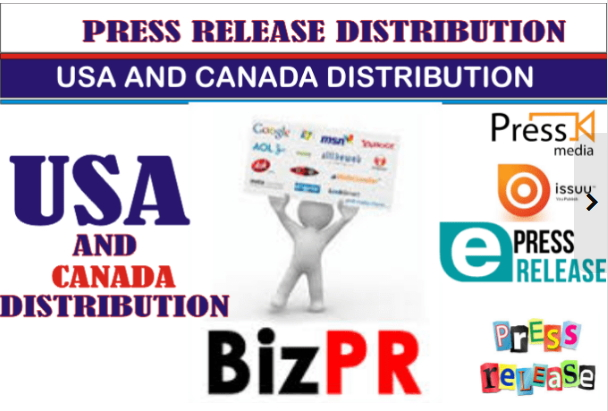 optimize your Press RELEASE and do usa and Canada distribution