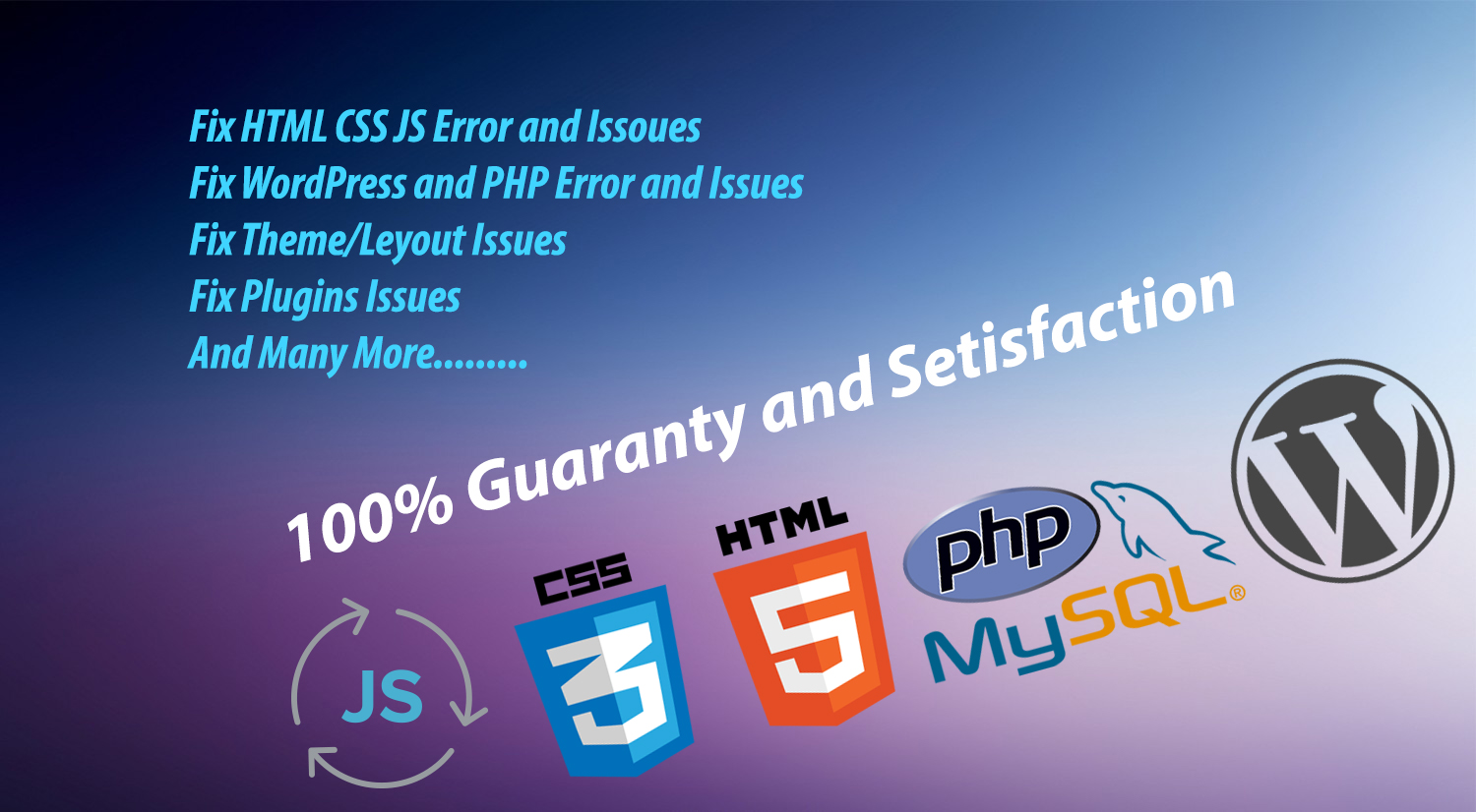 fix html css js php wordpress issues