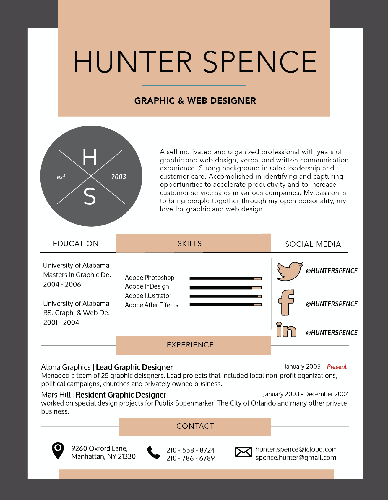design and create a professional resume, cover letter and cv