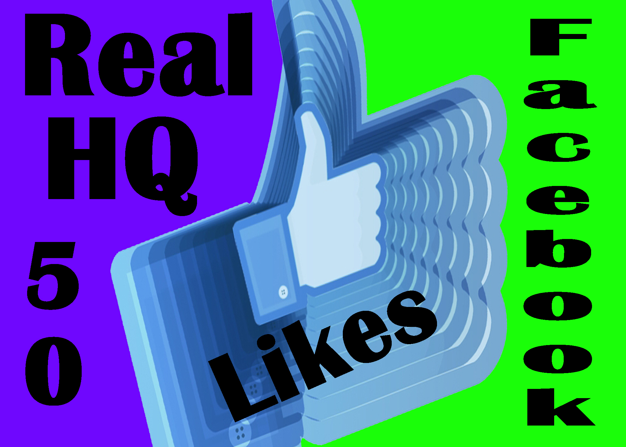 give you 50 Real Facebook vote / Likes