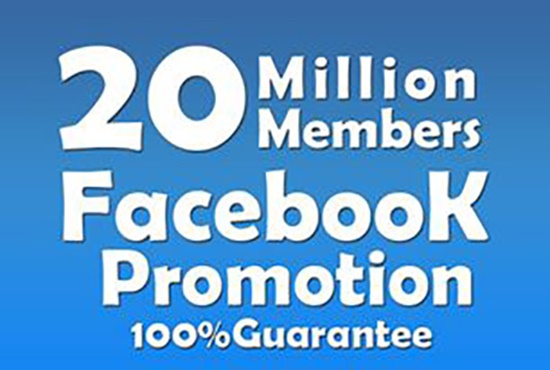 do FACEBOOK promotion
