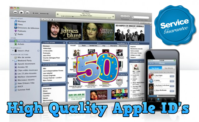 provide 50 US itunes account apple ID