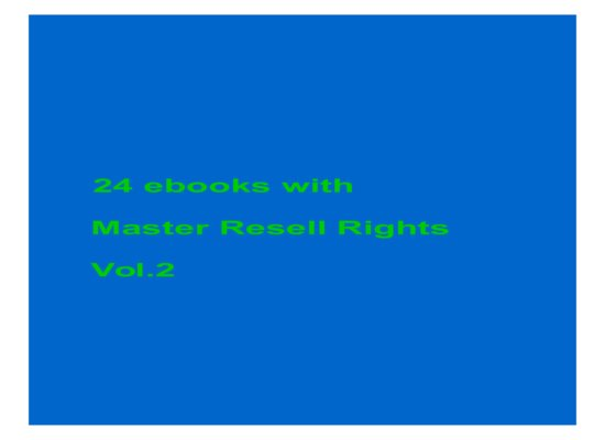 24 ebooks with MRR Vol.2