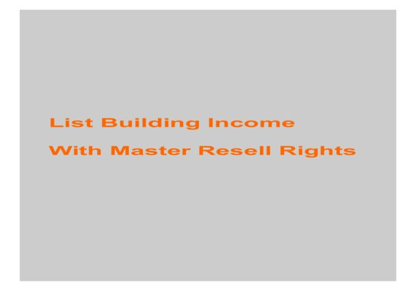 give List Building Income