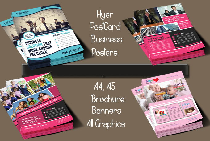 design a flyer of unique design for you