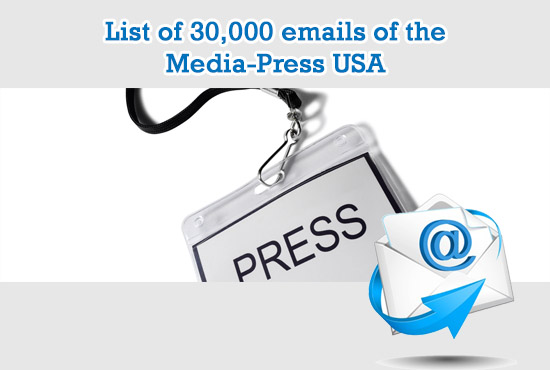 give you a list of 30,000 emails of the Media Press USA