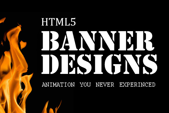 create HTML5 banner ads with stunning animations