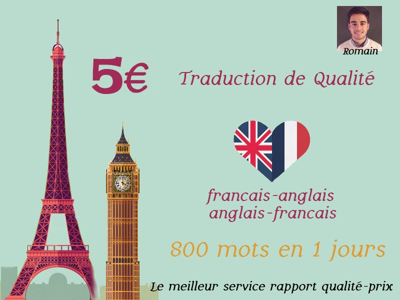 translate 500 words English-French in 1 day