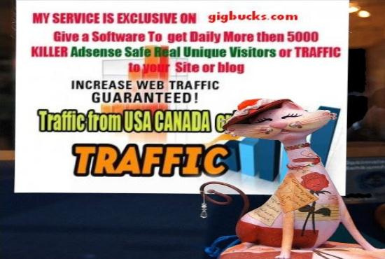 send a software 2 get daily 5000 Real TRAFFIC Site for $5 $