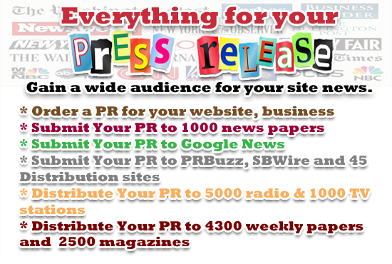 submit your press release or article to 1200 daily papers