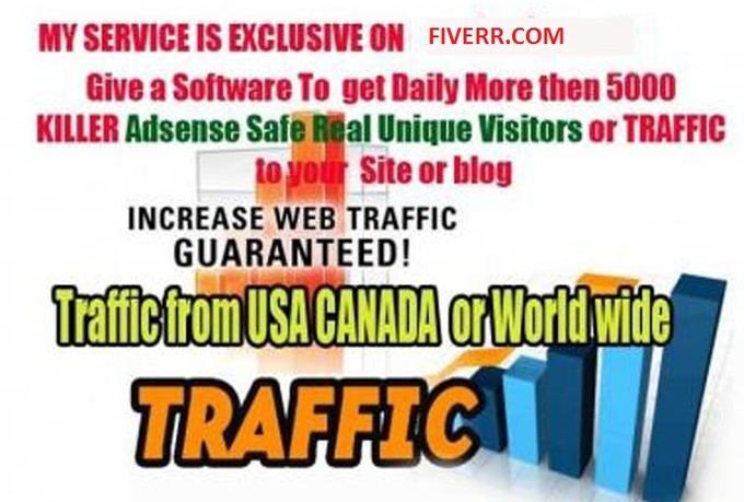 send a software 3 get daily 10,000 Real TRAFFIC 2 ur Site