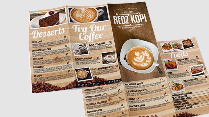 make GREAT trifold menu for you