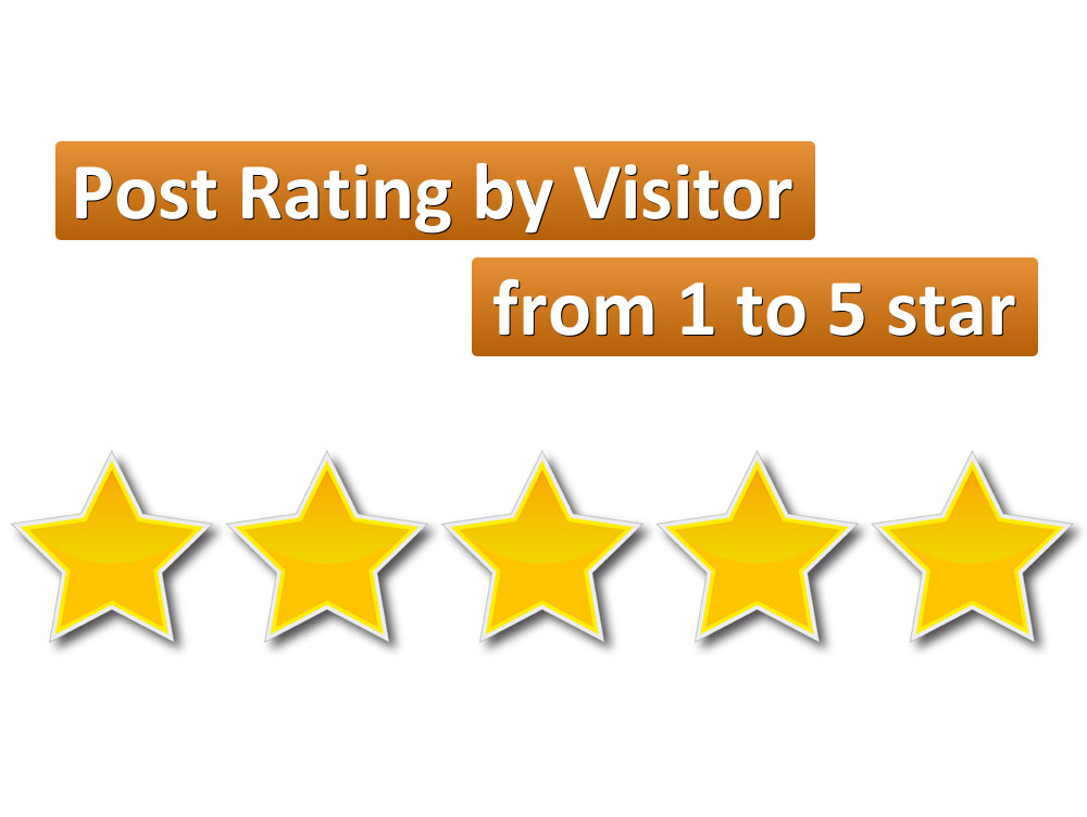 show WordPress Post Rating by Visitor from 1 to 5 star in sidebar