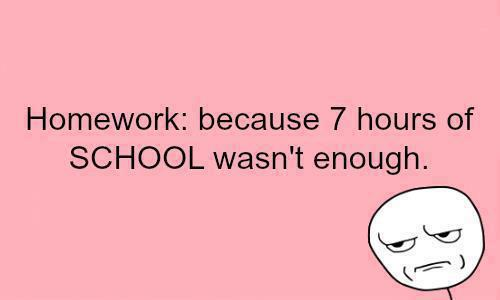 do all your homework for 2 weeks