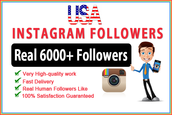 Real USA 7000 Instagram followers