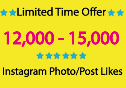 Provide Limited Time Offer, 15,000+ Instagram Photo/Post Likes
