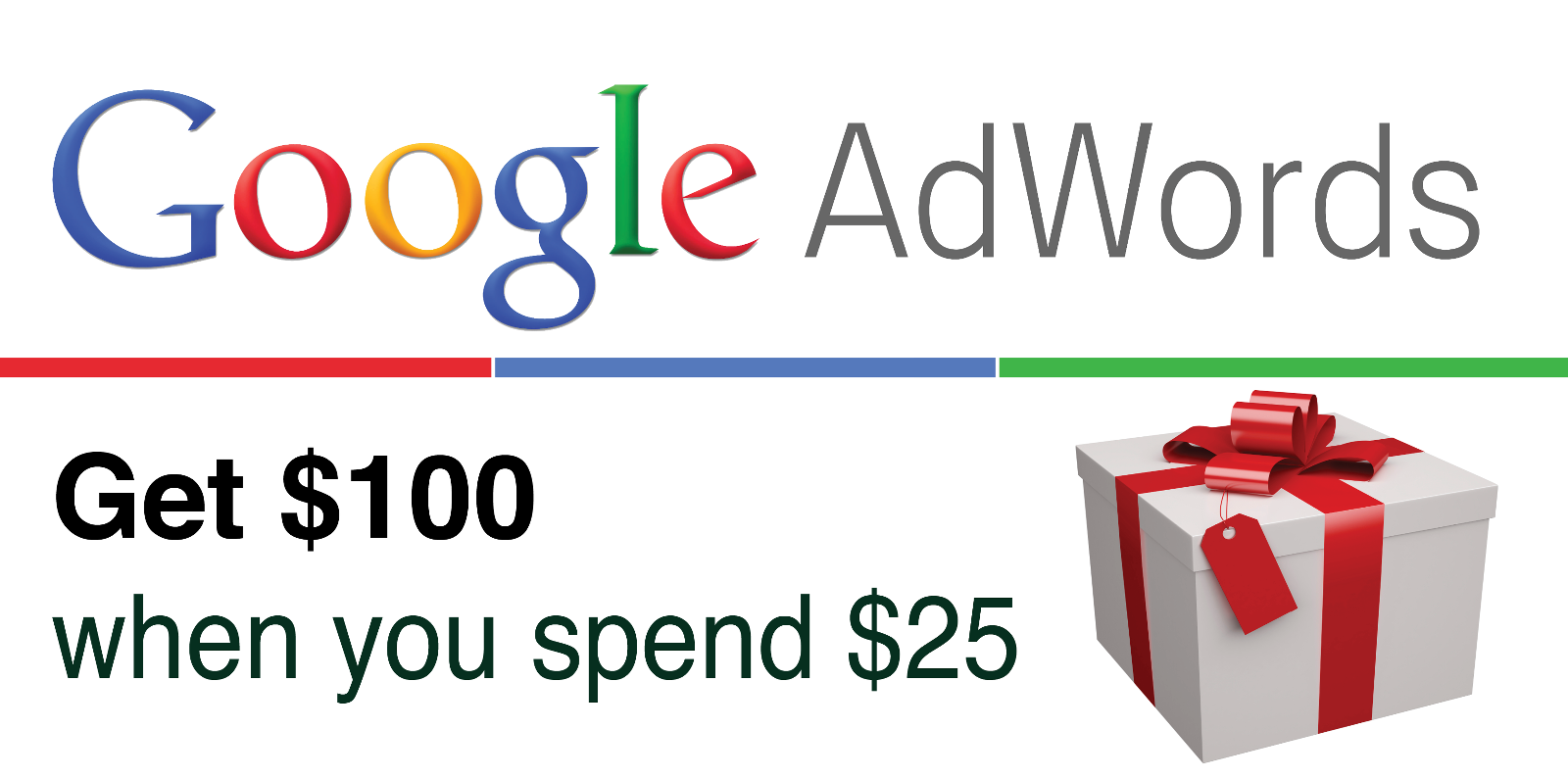 google adwords coupon 1x 100 USD