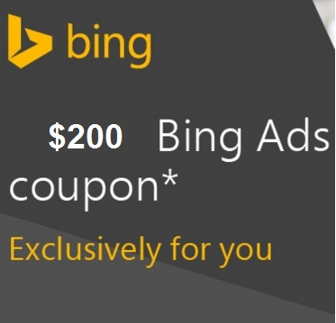 give bing coupon $100 For New Ad Accounts