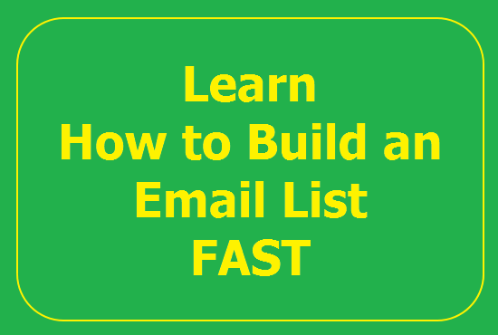 show you how to build an email list FAST