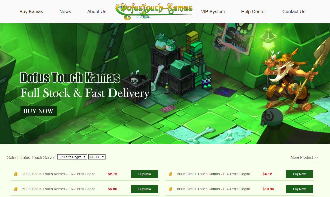 sale cheap dofus touch kamas