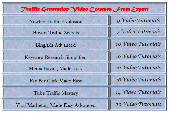 Give Traffic Generation Best Video Courses