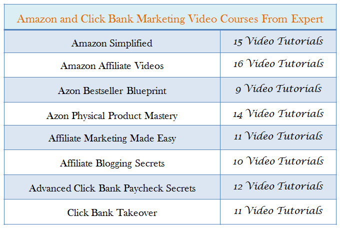 Give Amazon and Click Bank Paid Video Course