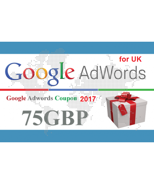 give you 1x 75 GBP google adwords promo coupon code for UK new accounts