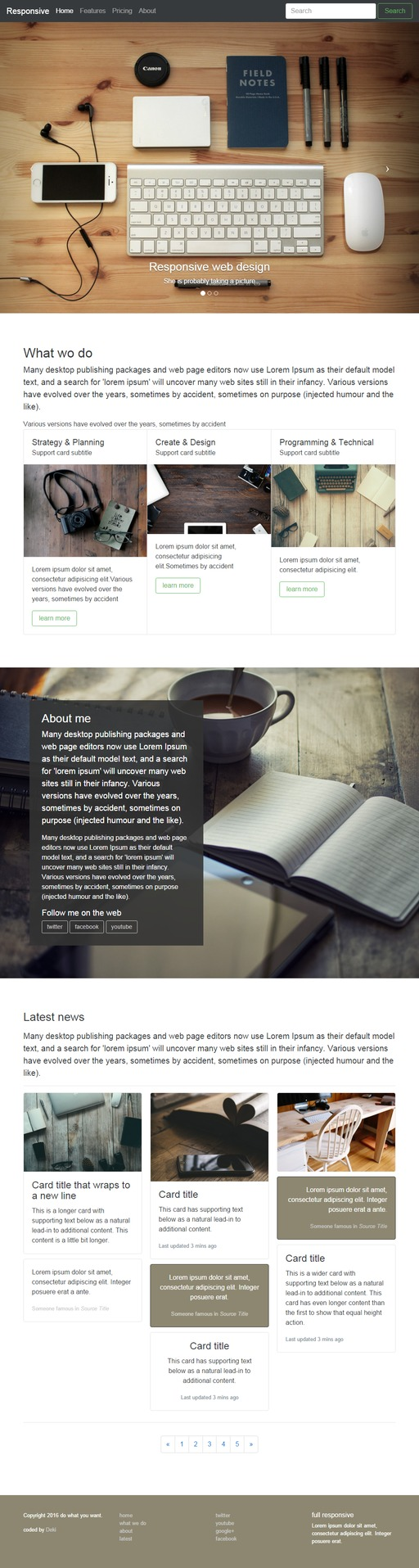awesome Bootstrap 4 website customise